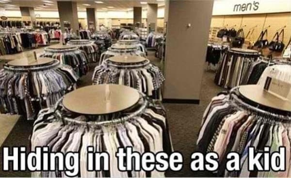Room - men's Hiding in these as a kid