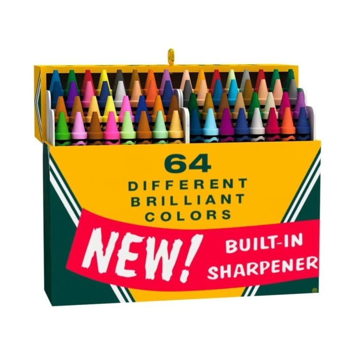 Crayon - 64 DIFFERENT BRILLIANT COLORS NEW! BUILT-IN SHARPENER