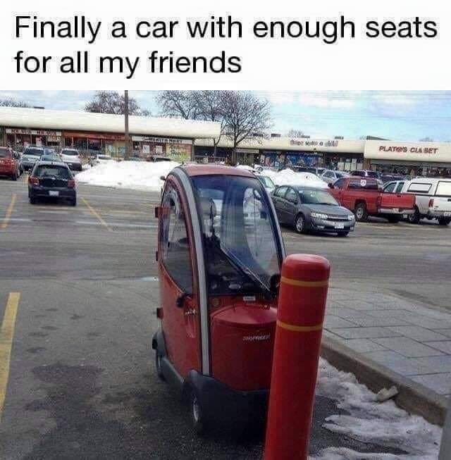 Vehicle - Finally a car with enough seats for all my friends dee o PLATES CLABET oo