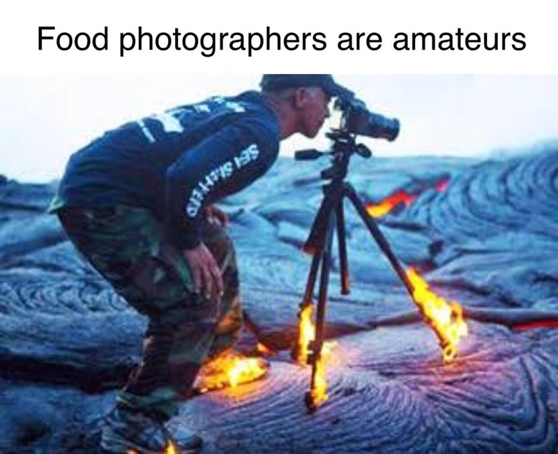 Water - Food photographers are amateurs