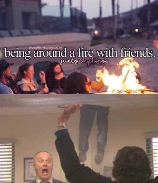Sky - being around a fire with friends. fustaialychenge instogrom//olustoirlbl.cg @Kevaemz