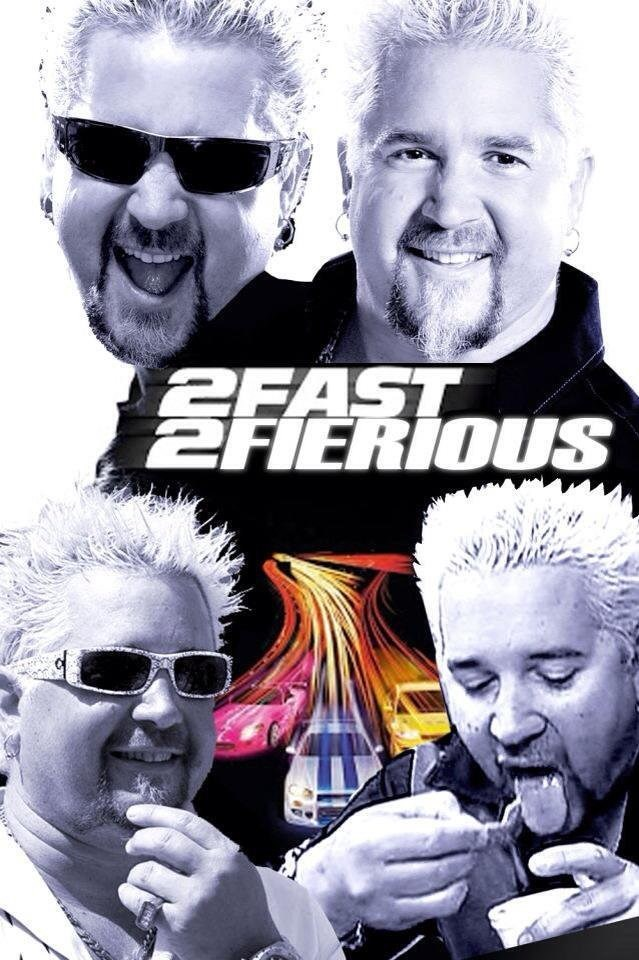 funny meme about guy fieri movie like fast and furious, guy fierious.