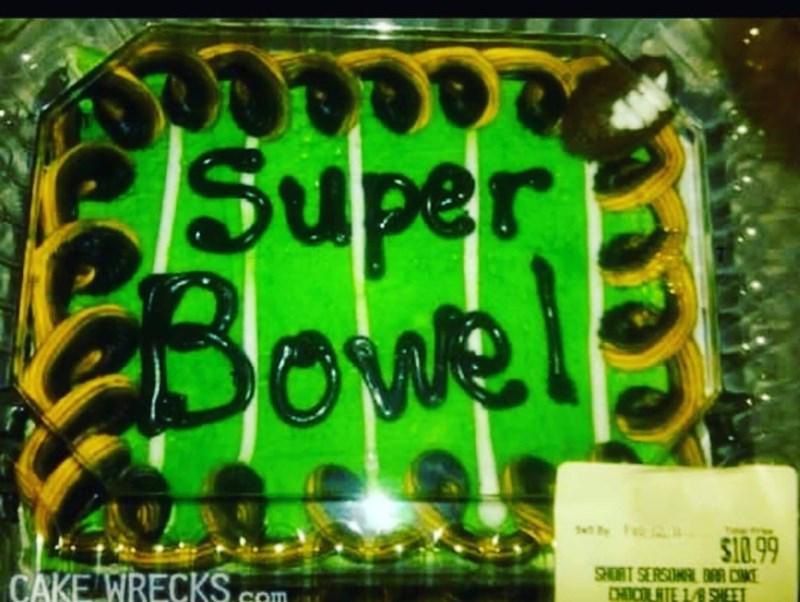 Green - Super Bowel tyFa $10.99 SHORT SERSONAL B C CHICLTE 1/8 SHEET CAKE WRECKS com