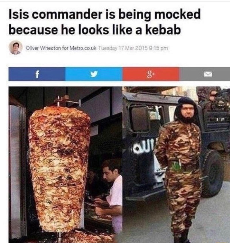 Isis commander is being mocked because he looks like a kebab Oliver Wheaton for Metro.co.uk Tuesday 17 Mar 2015 915 pm f auI