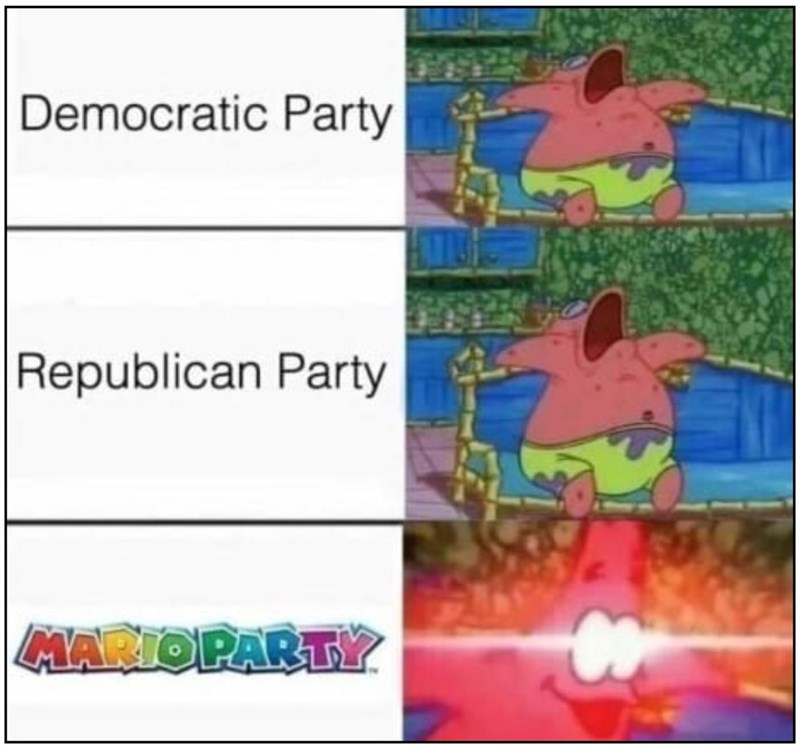 Text - Democratic Party Republican Party MARIOPARTY