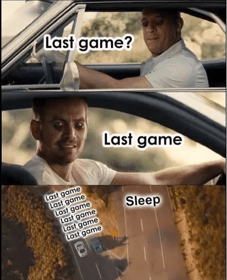 Funny meme about gaming, fast and furious, video games.