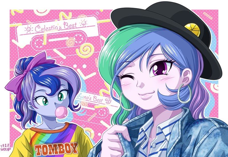 equestria girls uotapo princess luna princess celestia - 9268714752