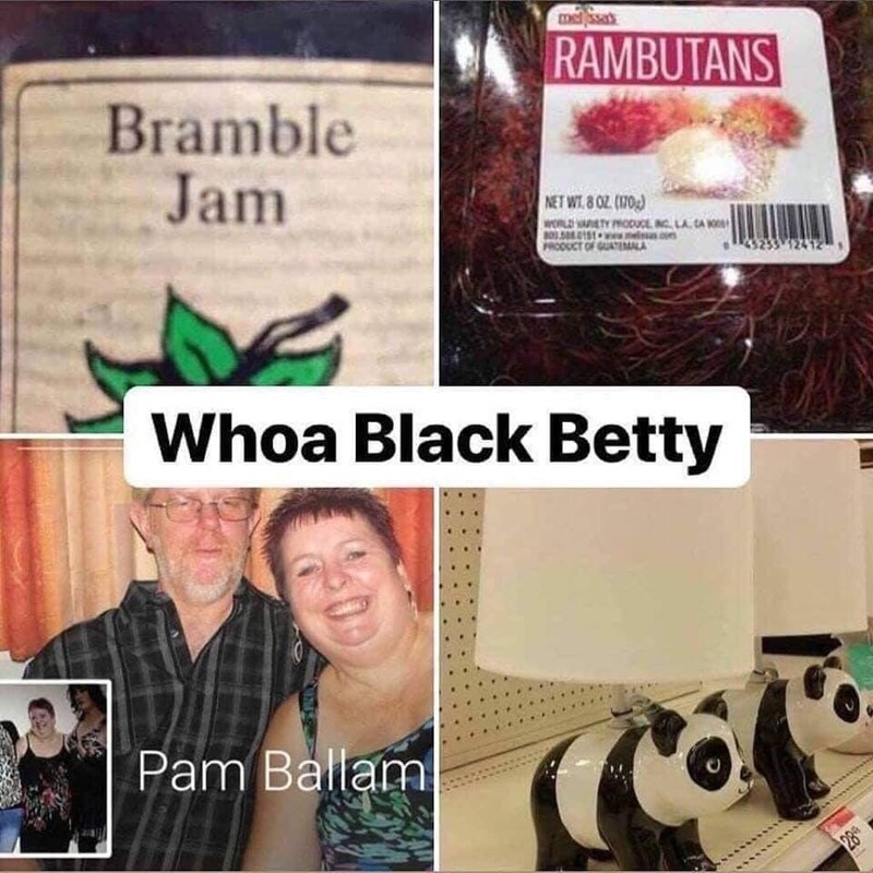 pointless meme about bramble jam and black betty