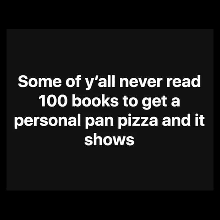pointless meme about needing to read books as a child during school