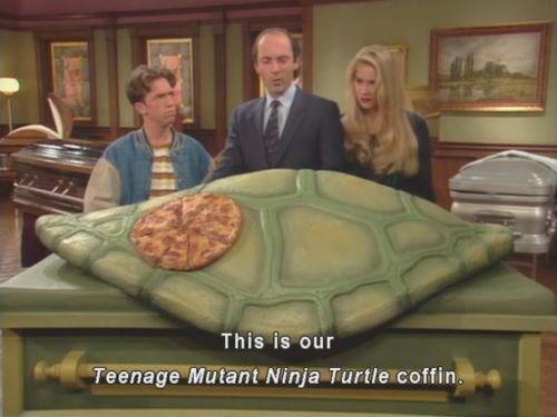 Tortoise - This is our Teenage Mutant Ninja Turtle coffin