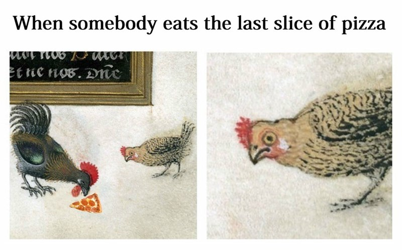 Bird - When somebody eats the last slice of pizza et ie nos. Dme