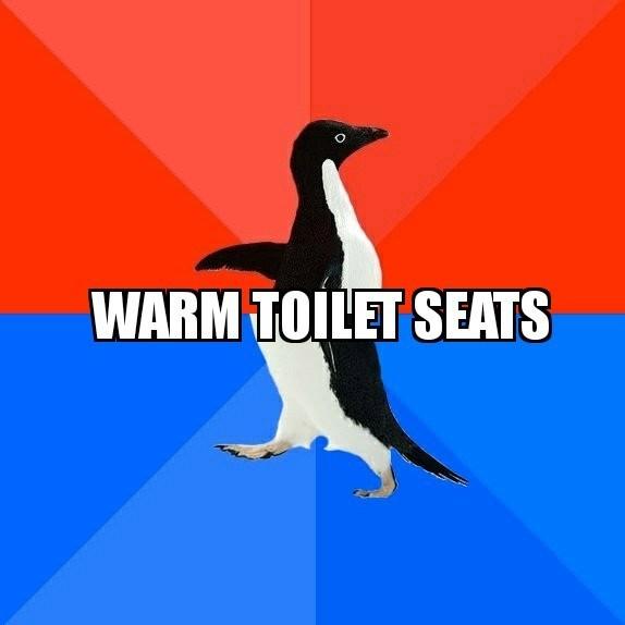 meme - Bird - WARM TOILET SEATS