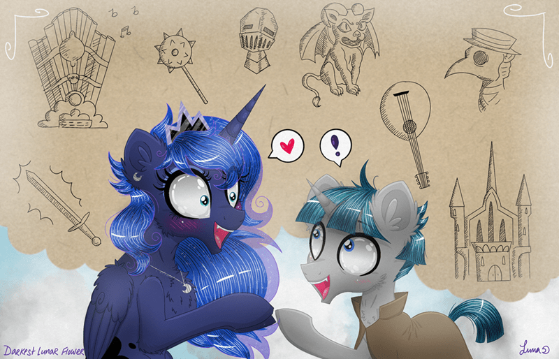 stygian darkest lunar flower princess luna - 9269244416