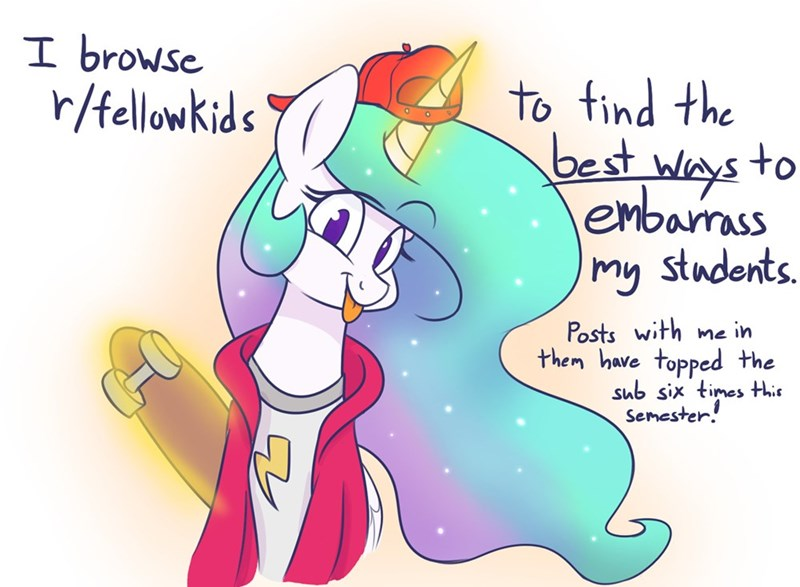 how do you do fellow kids princess celestia Reddit heir of rick - 9269344000