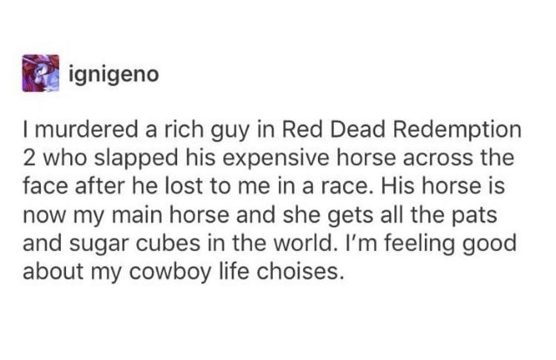 wholesome meme about murdering a guy in red dead redemption