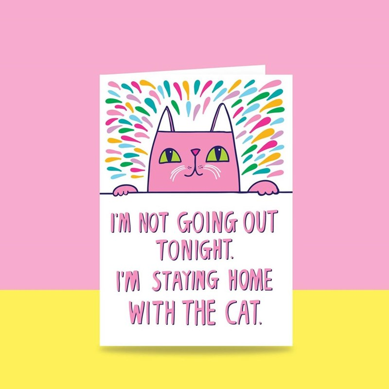 Pink - TM NOT GOING OUT TONIGHT. IM STATING HOME WITH THE CAT