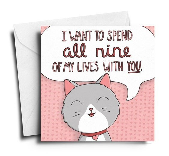 Greeting card - IWANT TO SPEND all nine OF MY LIVES WITH YOU