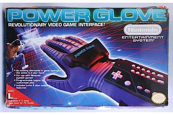 nostalgia - Games - POWER GLOVE REVOLUTIONARY VIDEO GAME INTERFACE! Nintendo ENTERTAInmENT SYSTEM POWER GLOVE An exciting alternative in game contro the action is in your hand! For use with Nintendo joystick games! Programmable keypad fo customized play! Includes turbo & slow motios features! SIZE L Available in 2 sizes (See beck for Fit Guide) fnreo
