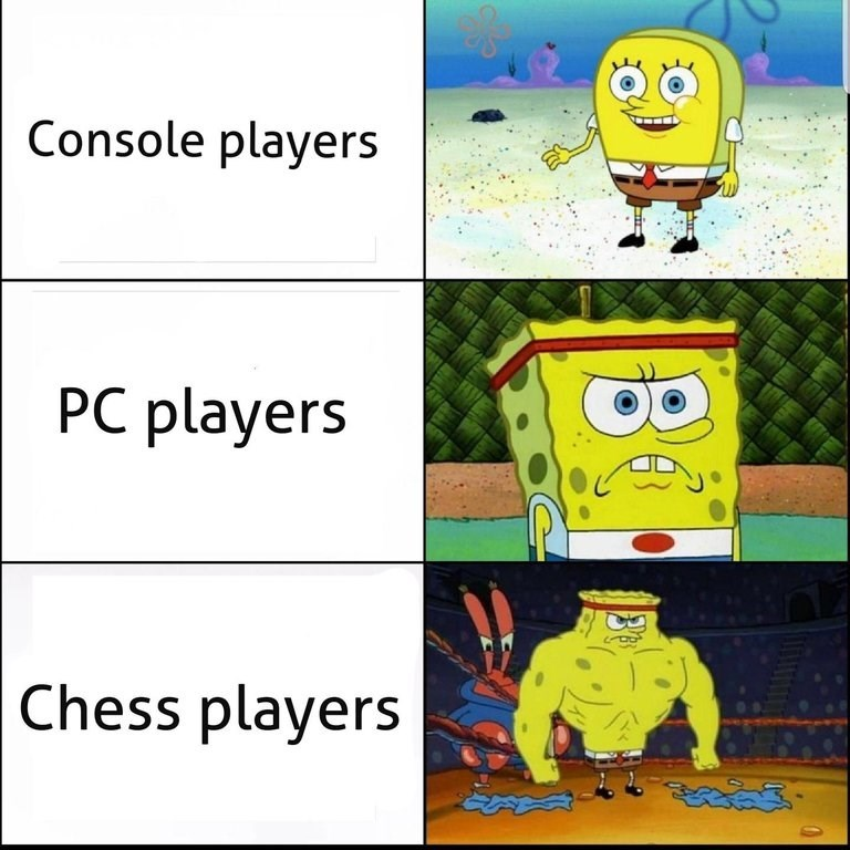 Cartoon - Console players PC players Chess players ఇయద్