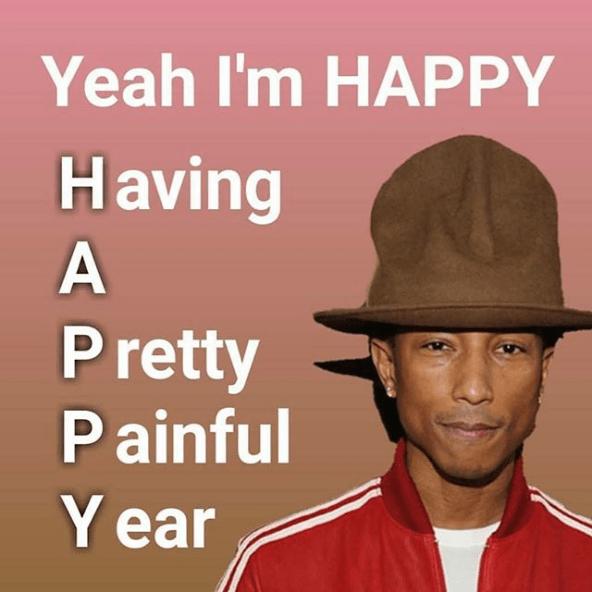 Clothing - Yeah I'm HAPPY Having A Pretty Painful Y ear