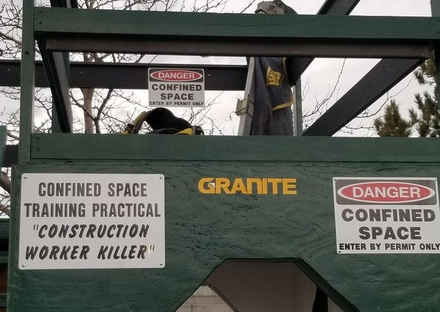 """Font - DANGER CONFINED SPACE ENTER BY PERMIT ONLY GRANITE CONFINED SPACE TRAINING PRACTICAL """"CONSTRUCTION DANGER CONFINED SPACE ENTER BY PERMIT ONLY WORKER KILLER"""""""