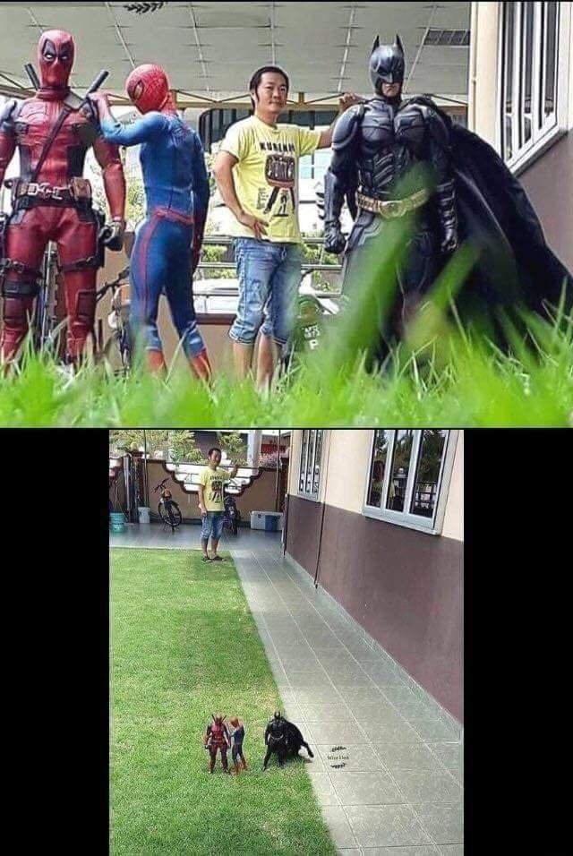 optical illusion - Superhero - P Wee