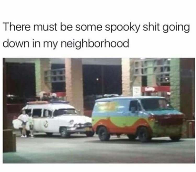 Motor vehicle - There must be some spooky shit going down in my neighborhood