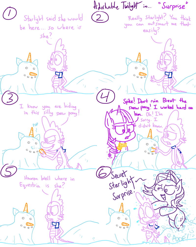 spike starlight glimmer twilight sparkle comic adorkable twilight and friends - 9271659520