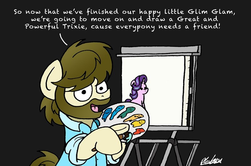 the great and powerful trixie bob the dalek starlight glimmer bob ross ponify - 9272010752