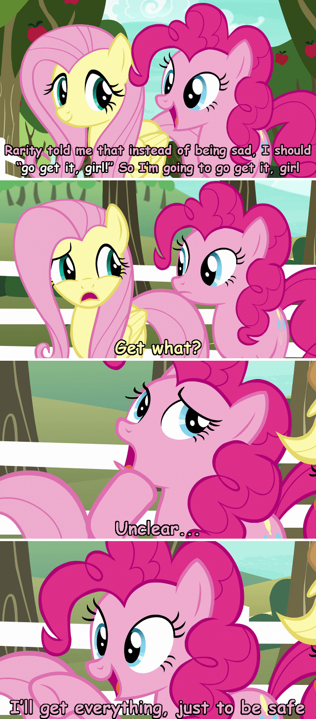 incorrect my little pony quotes screencap the good place pinkie pie buckball season comic fluttershy - 9272356352