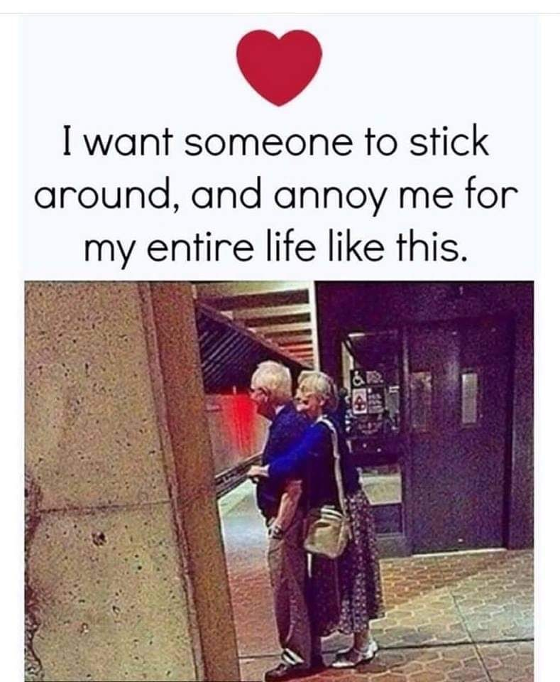 Text - I want someone to stick around, and annoy me for my entire life like this.