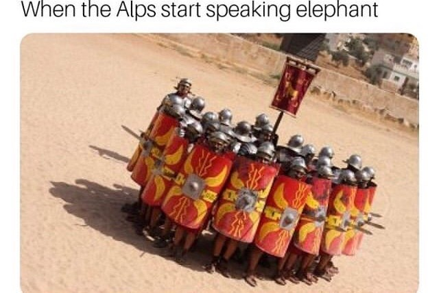 Text - When the Alps start speaking elephant