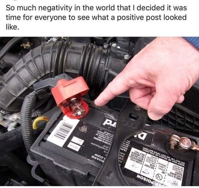 hand pointing to part in car engine So much negativity in the world that I decided it was time for everyone to see what a positive post looked like AaLAVG Na40 10N O0 LLON OO 4 Aanr ON STAT OMS POISON