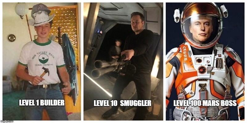 dank meme - Helmet - BA LEVEL100 MARS BOSS LEVEL 10 SMUGGLER LEVEL 1 BUILDER imgfip.com LESW