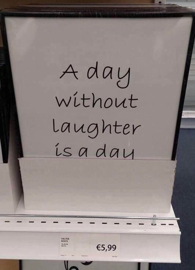 picture in box cut off A day without Laughter is a dau VALTER KENYS €5,99
