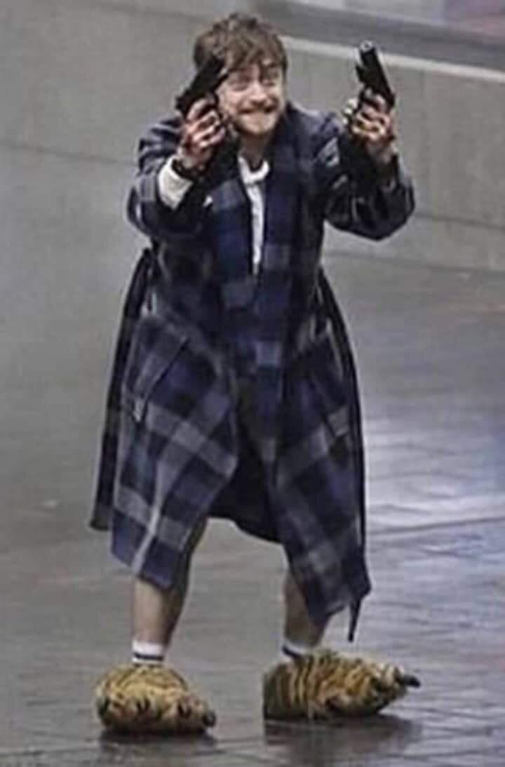 cursed image - Tartan Daniel Radcliffe