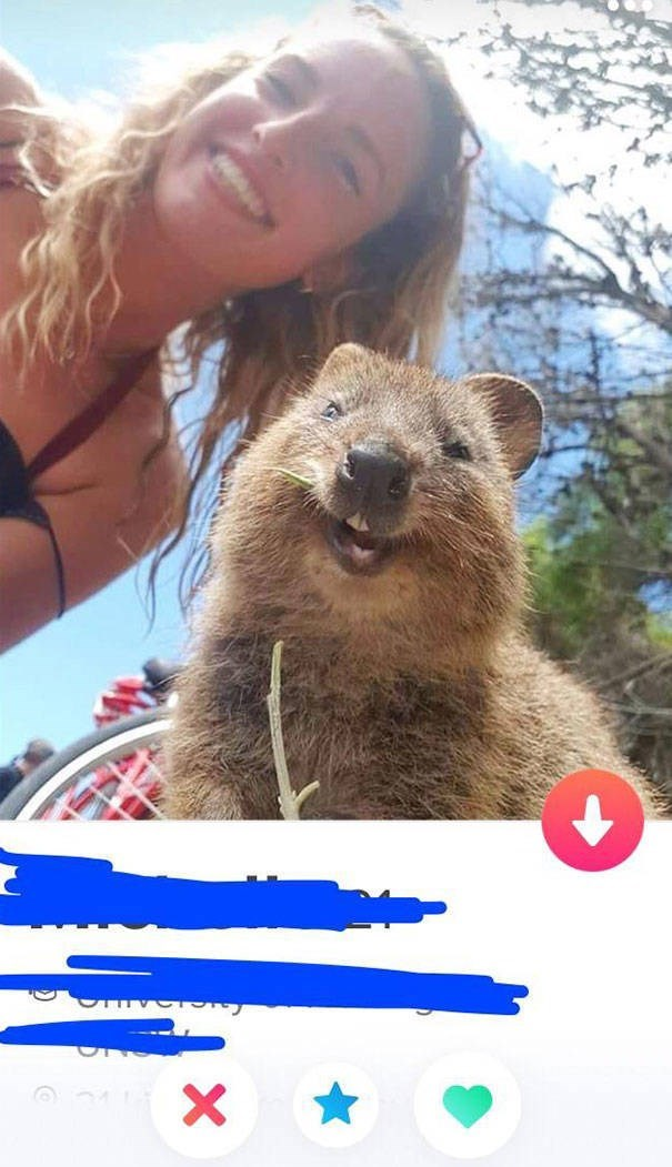 girl and smiling rodent