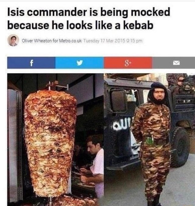 Uniform - Isis commander is being mocked because he looks like a kebab Oliver Wheaton for Metro.co.uk Tuesday 17 Mar 2015 915 pm f