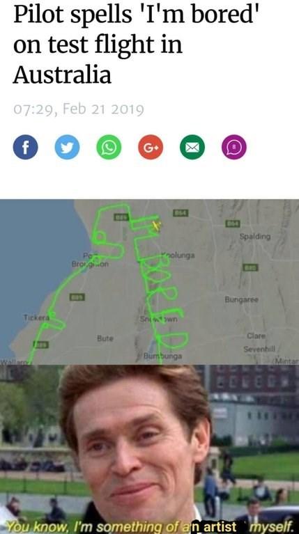 fresh meme about a bored artistic pilot