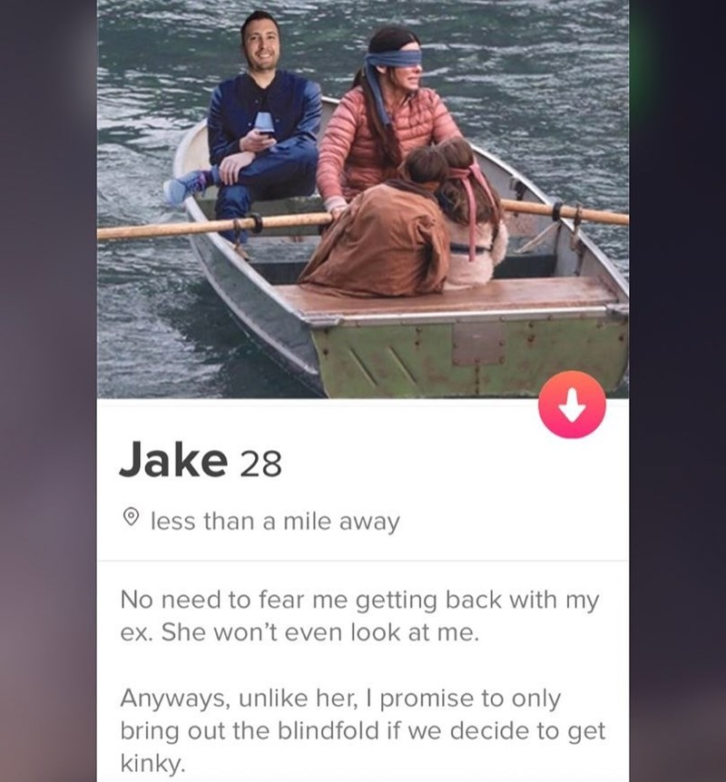 Water transportation - Jake 28 less than a mile away No need to fear me getting back with my ex. She won't even look at me. Anyways, unlike her, I promise to only bring out the blindfold if we decide to get kinky.