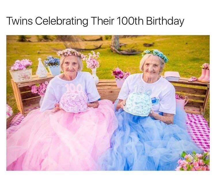 Pink - Twins Celebrating Their 100th Birthday 100