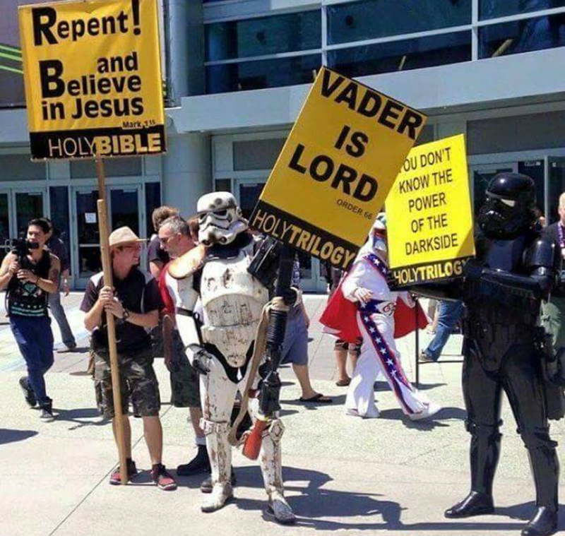 Protest - Repent! VADER elieve in Jesus IS Mark 135 OU DON'T KNOW THE POWER OF THE LORD HOLYBIBLE ORDER 66 HOLYTRILOGY DARKSIDE 4OLYTRILOGY