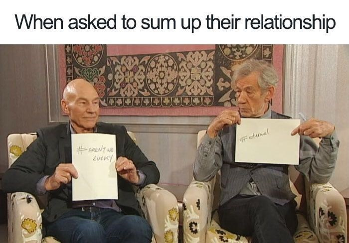 Text - When asked to sum up their relationship # efunel #AGENT WE LucKy