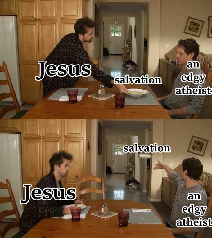 dank christian - Interior design - an Jesus edgy atheist salvation salvation Jesus an edgy atheist ty