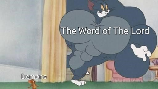 dank christian - Cartoon - The Word of The Lord Demons
