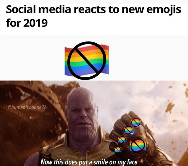 Human - Social media reacts to new emojis for 2019 @humanity.gone26 Now this does put a smile on my face