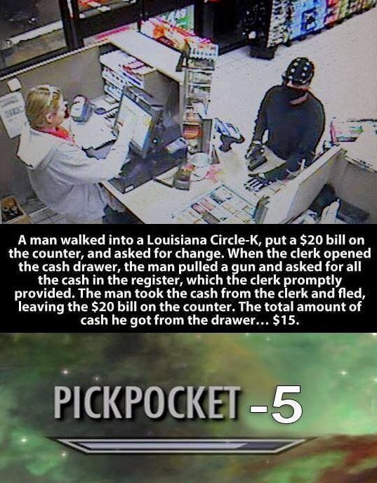 wholesome meme about a robbery that went wrong