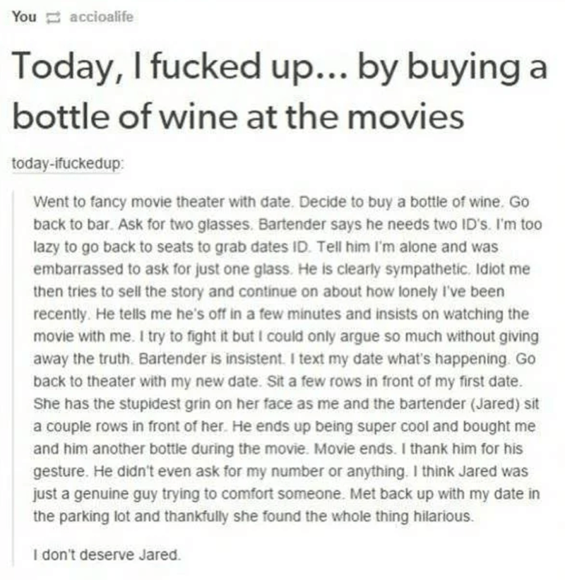 wholesome meme about bringing wine to the movies