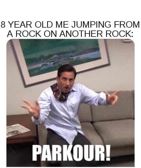 nostalgic meme about being athletic as a kid