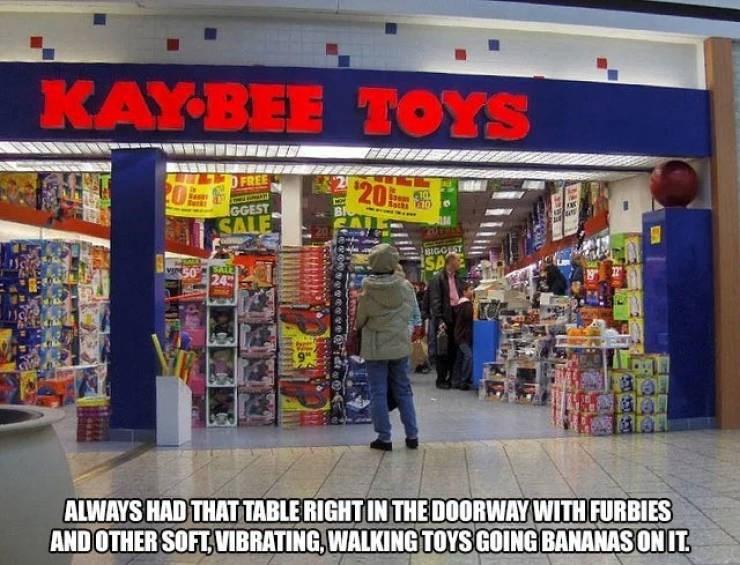 nostalgic pic of a KB toys store